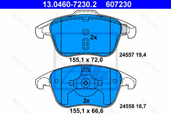 DP1960 EBC Ultimax Front Brake Pads fit Grand C4 Picasso C4 C4 Picasso DS4 DS5 5