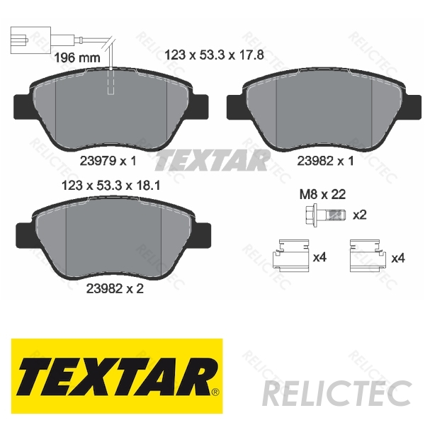 Includes Wear Indicators//Leads Bosch Borg /& Beck BBP1716 Front Brake Pads
