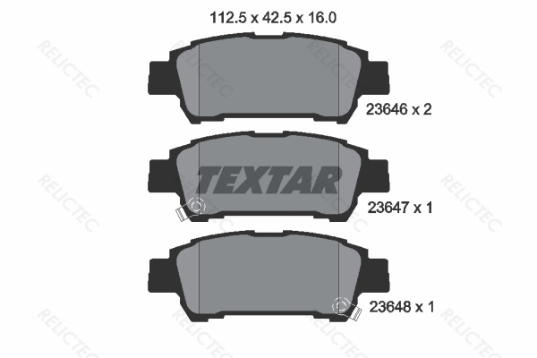 MINTEX REAR AXLE BRAKE PADS TOYOTA ALPHARD AVENSIS MDB2115 REAL IMAGE OF PART