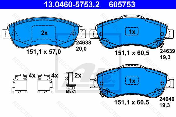 Brembo P28045 Front Disc Brake Pad Set of 4