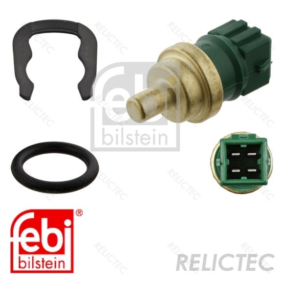 BERU OEM Green Coolant Temperature Sender Sensor Clip /& Seal VW Audi SEAT Skoda