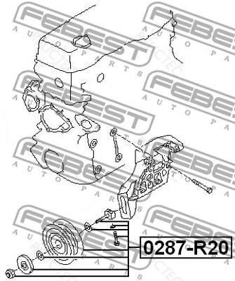 Tensioner Pulley V Ribbed Aux Belt For Nissannavarapick Upterrano