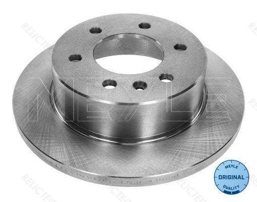 SINGLE Remschijven NBD1422 Brake Disc Rear Axle