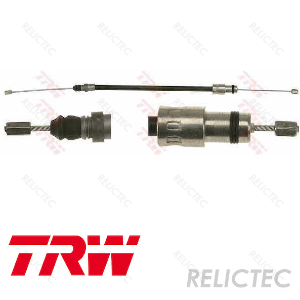 FIAT ULYSSE 179 2.2D Handbrake Cable Left 05 to 06 Hand Brake Parking Firstline