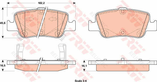Corolla 07-0446602170 Hella Pagid Rear Brake Pad Set For Toyota Auris 06