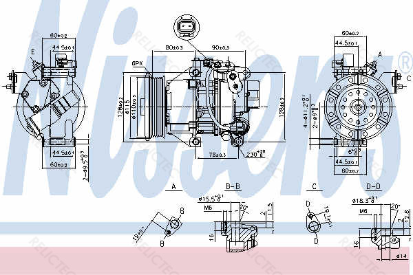 A/C compressor Air Conditioning Toyota:YARIS 883100D140