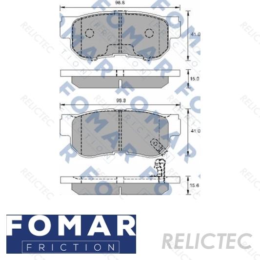 BLUE PRINT REAR BRAKE PADS SET BRAKING PADS OE REPLACEMENT ADG04249