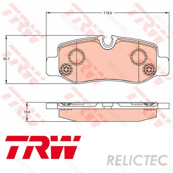 Fits Mercedes Vito W447 114 CDi Genuine Mintex Rear Brake Pads Set