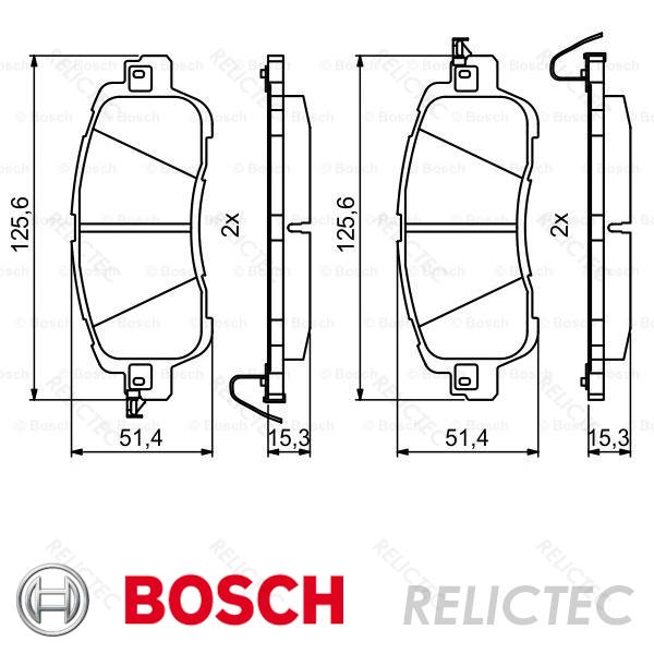 Brake Pads Set fits MAZDA 2 Front 1.5 1.5D 2014 on B/&B DAY43328ZA DAY53328ZA New