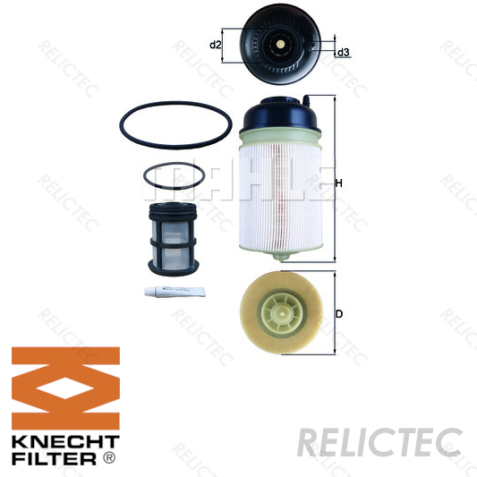 Premium Quality Fuel Filter For 1997 Mercedes-Benz SL320 GKI Note: From ident. No.: F 110985